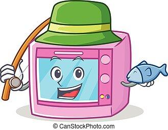 Fishing oven microwave character cartoon
