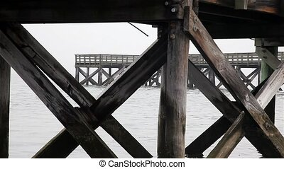 Fishing pier close up
