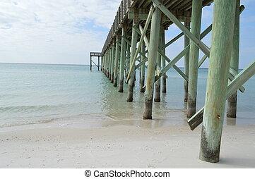 Coastal fishing pier