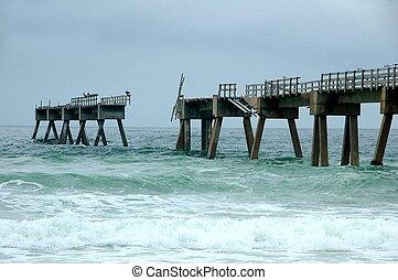 Fishing Pier Damage