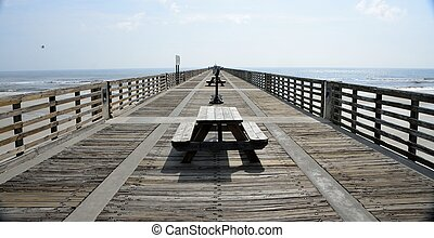 Fishing pier background at Florida, USA