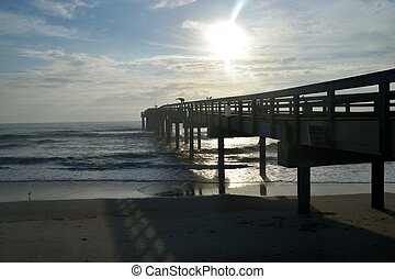 Fishing pier early morning Florida, USA
