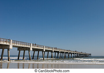 Fishing pier on a beach in Florida