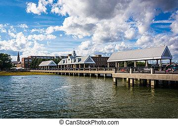 Fishing pier in Charleston, South Carolina.