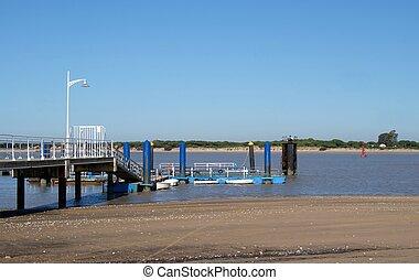 fishing pier in the beach