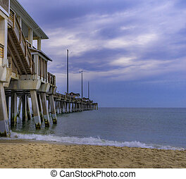 fishing pier in the Outer Banks