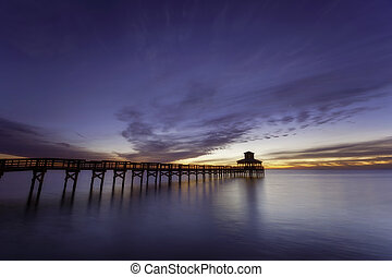 Fishing Pier in water