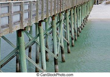 Fishing pier on the beach