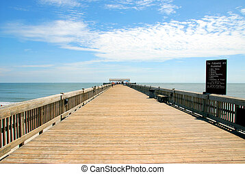 photographed fishing pier at Tybee Island Ga.