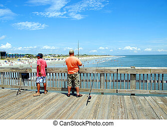 Photographed fishing pier in Georgia.