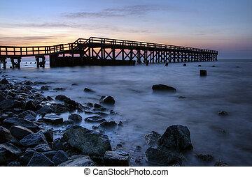 Fishing Pier Sunrise - Sunrise at the fishing pier at Port ...