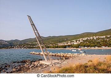 Fishing platform, named tunera in Croatia