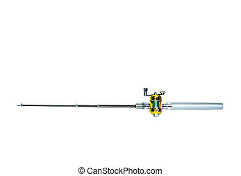 Fishing pole with rod and reel used to catch fish