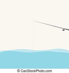 Fishing Pole Illustration