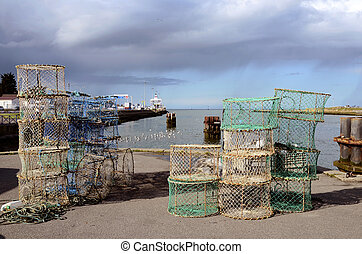 Fishing port Ouistreham in France