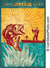 Fishing Poster Calendar 2012 Largemouth Bass - poster...