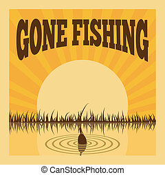 Fishing poster for leisure recreation hobby summer layout...