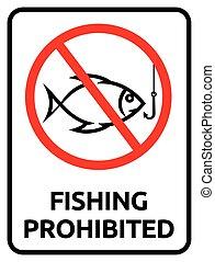 Fishing prohibited sign