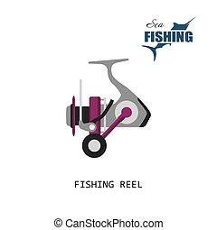 Fishing reel. Item of fishing