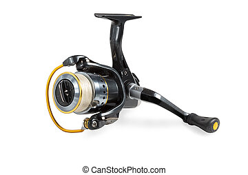 Fishing reel with braided tread. - Fishing reel with tread...