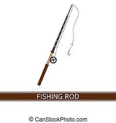 Fishing Rod Icon - Vector illustration of fishing rod,...