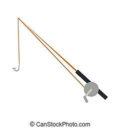 fishing rod isolated icon