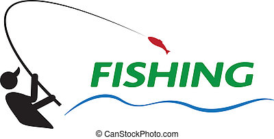 fishing sign of illustration