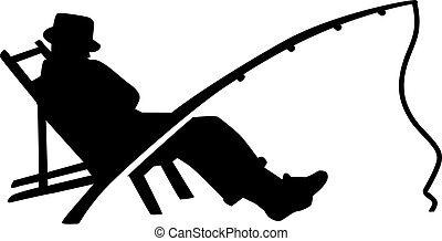 Fishing Silhouette Man Rod