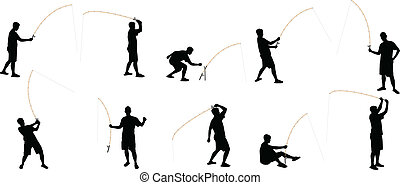 fishing silhouettes