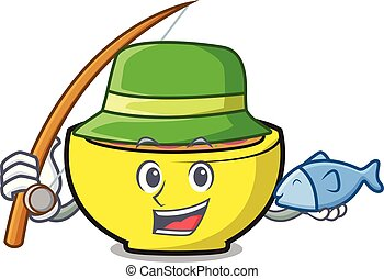 Fishing soup union mascot cartoon