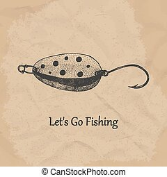 Fishing spoon. Vector illustration.