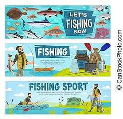 Fishing sport and fishery leisure activity