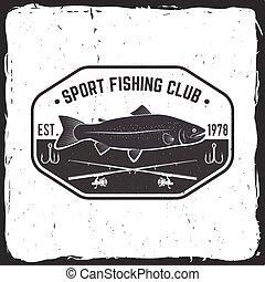 Fishing sport club. Vector illustration. Concept for shirt...