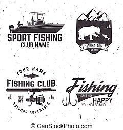 Fishing sport club. Vector illustration. - Fishing club. ...