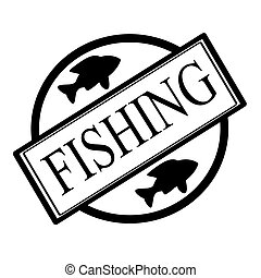 Fishing - Stamp with word fishing inside, vector...