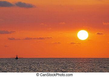 Fishing Sunset