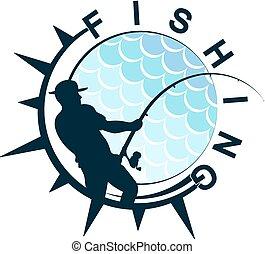 Fishing symbol design