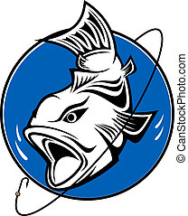 Fish as a fishing symbol for design