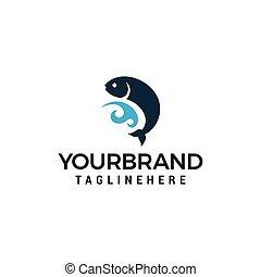 Fishing Symbol Logo designs template