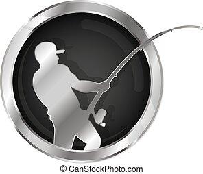 Fishing symbol silver