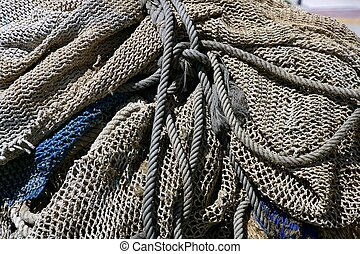 Fishing tacke for professiona net fisherboat in...
