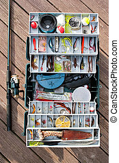 Fishing Tackle Box and Gear - A fully stock fishermans...