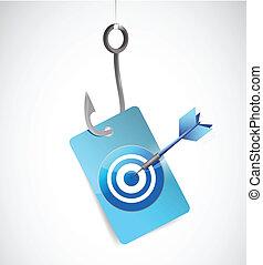 fishing target concept illustration design