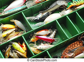 fishing tools - fishing lures and hooks