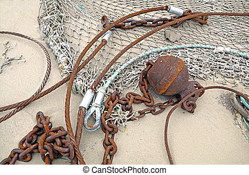 fishing tools -  fishing tools on the beach