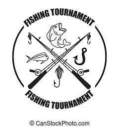 fishing tournament design, vector illustration eps10 graphic...