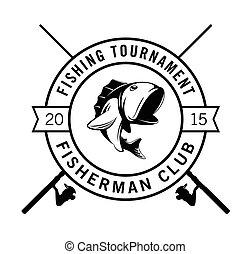 Fishing tournament fisherman club badge