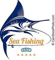 fishing tournament identity logo badge label
