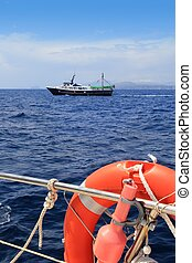 fishing trawler professional boat working