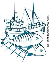 Fishing vessel and fish